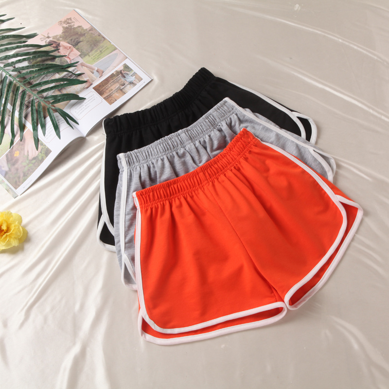 Black Shorts Women Patchwork Body Fitness Workout Summer Shorts Female Plus Size Elastic Loose Casual Shorts 2020