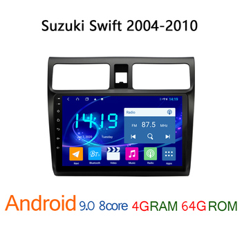 4G+64G car radio for Suzuki Swift 2004 2010 android autoradio DVD multimedia player coche audio auto central bluetooth navigator image