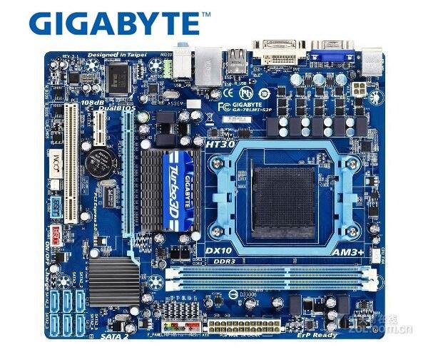 Original Desktop Motherboard  Gigabyte GA-78LMT-S2P DDR3 Socket AM3+ Fully Integrated Gigabit Ethernet Free Shipping