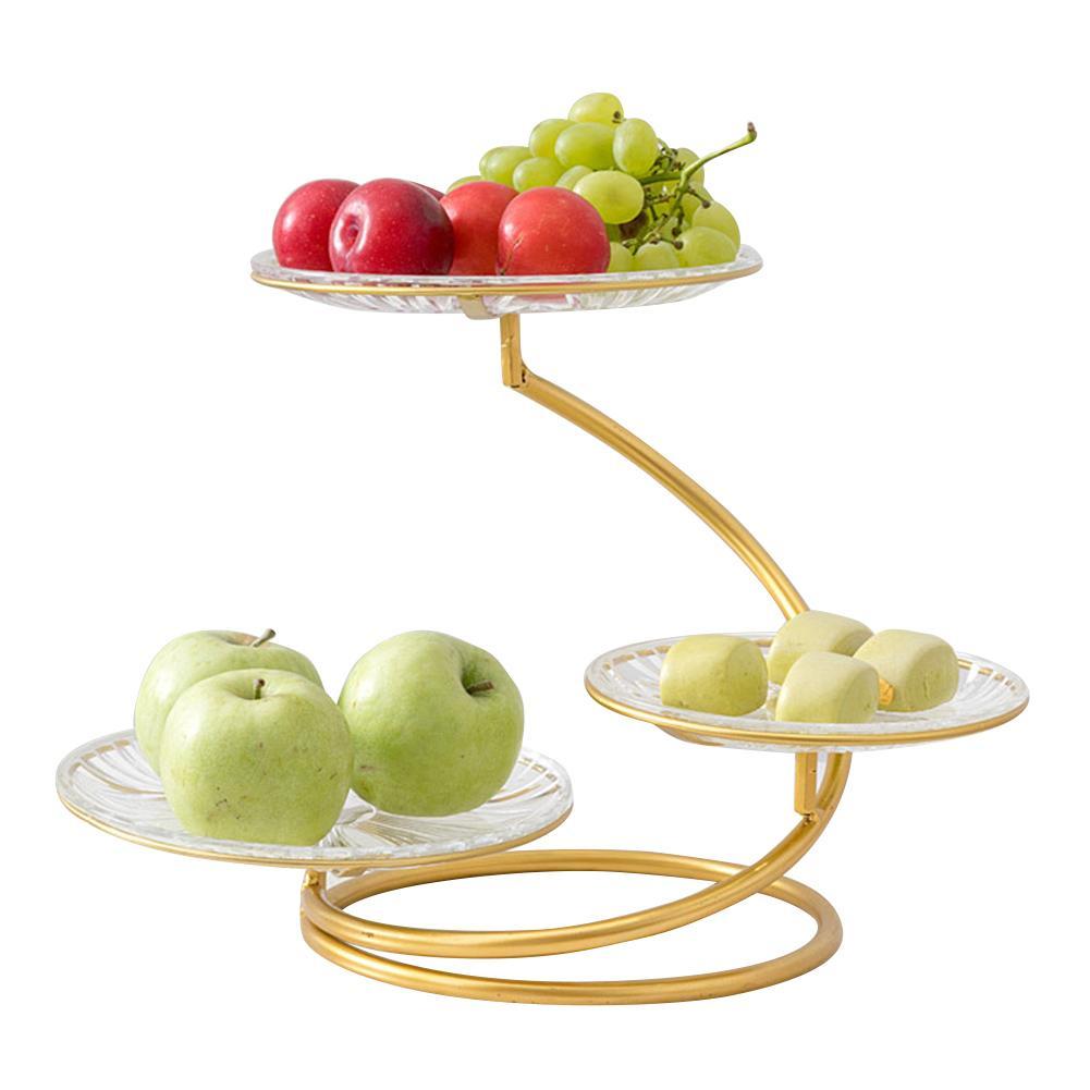 3-Tier Stand fer forgé fruits plaque innovant moderne présentoir fruits plaque gâteau Stand Dessert plaque légumes stockage Rac