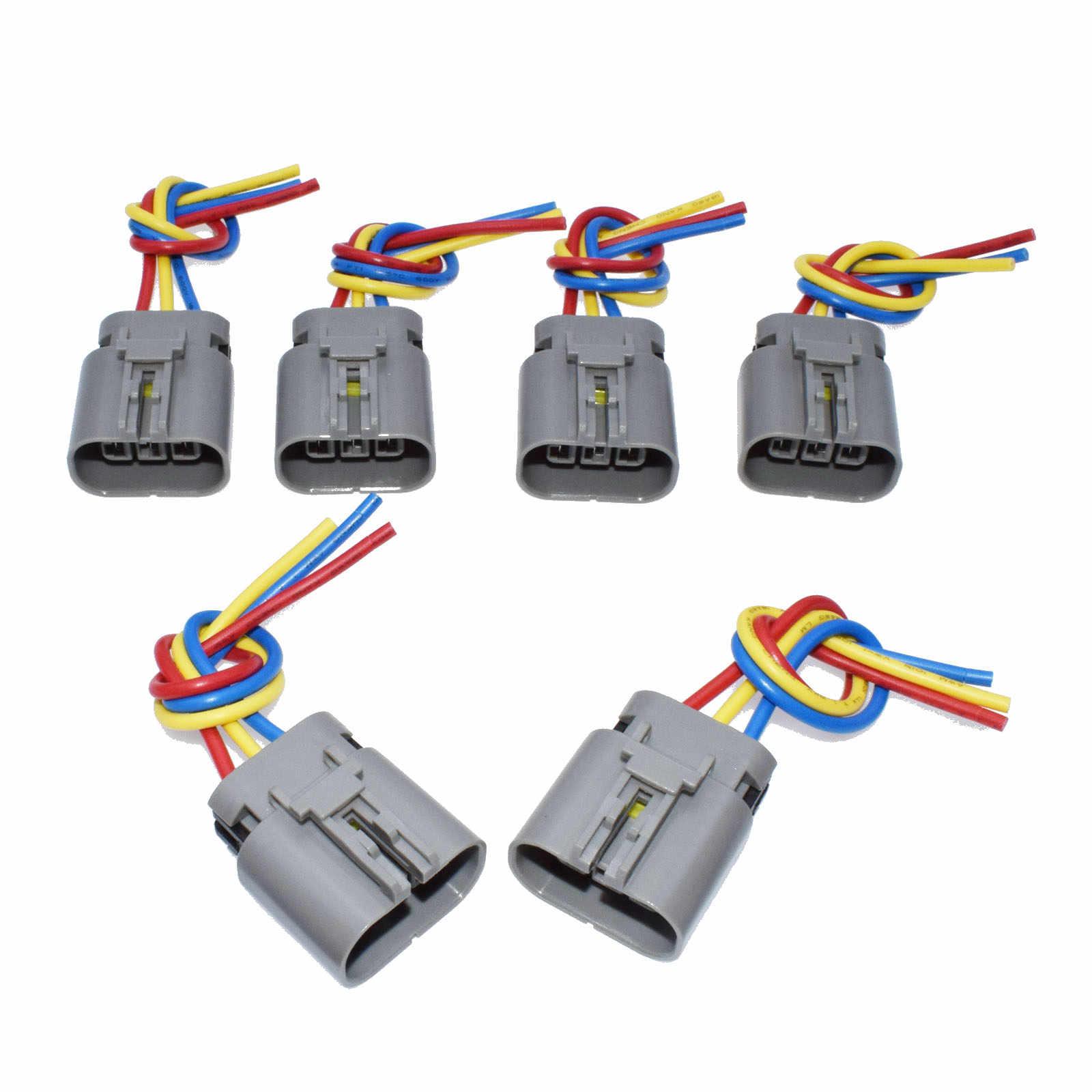 Paquete de bobina de encendido WOLFIGO conector de cableado arnés de cola de cerdo para Nissan 300zx z32 Pulsar NX Infiniti J30 CI-IGN300 CIIGN300