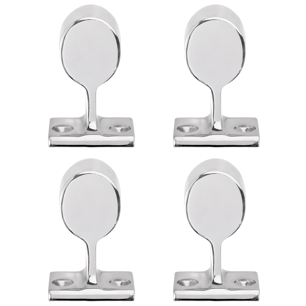 4 Pieces Marine Grade Stainless Steel Boat Hand Rail Fitting After Stanchion For 25mm Hand Rails Marine Yacht Hardware
