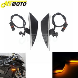 Dla BMW S1000RR 2009-2019 HP4 2013 2014 CNC motocykl 12V kierunkowskazy led przednie światła migacz bursztynowy migające światła