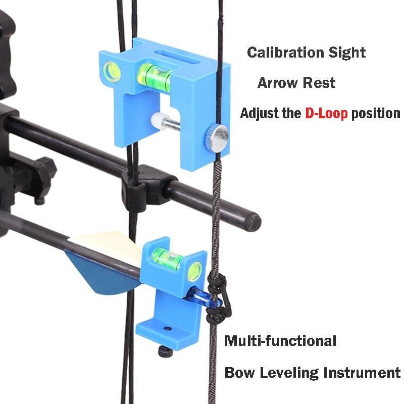 Multi-functional Bow Leveling Instrument Level Bubbles Calibration Sight Arrow Rest Adjust the D-Loop position