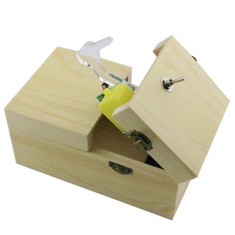 deixe sozinho maquina caixa com madeira real