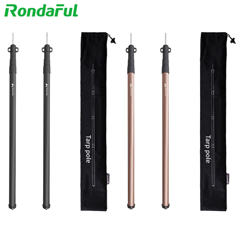 2Pcs Lightweight Tent Rod Telescoping Tarp Poles Set Aluminum Replacement Light Rods For Tents Poles Outdoor Accessories