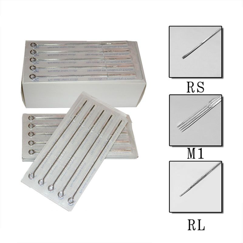 Assorted Sterilized Tattoo Needles 10piece  RL/RM/M1 Permanent Makeup