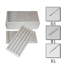 Assorted Sterilisiert Tattoo Nadeln 10 stück RL/RM/M1 Permanent Make-Up(China)