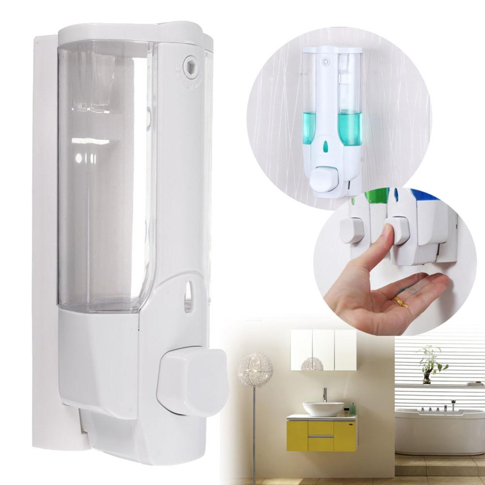 Liquid Soap Dispenser Wall Mount 350ml Bathroom Accessories  Detergent Shampoo Dispensers Double Hand Soap Bottle HVR88