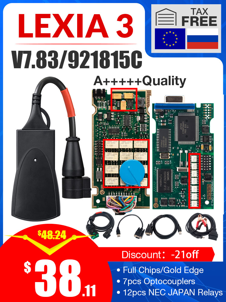 PP2000 Lexia3 Diagbox Firmware Diagnostic-Tool Full-Chip Peugeot Citroen OBDII with V48/V25