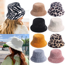 Femmes en plein air hiver vacances dame noir solide épaissi doux chaud casquette de pêche fausse fourrure lapin seau chapeau pour les femmes chapeaux
