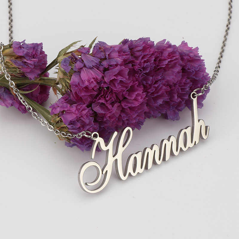 Collar con letras colgante nombre personalizado gargantilla collar oro Acero inoxidable collar dorado bling joyería personalizada pareja