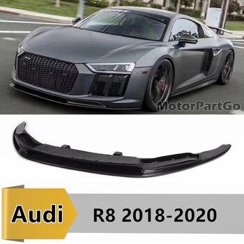 For Audi New R8 V Style Carbon Fiber Front Bumper Lip for Audi R8 2018 - 2020 Front Skirt Diffuser Car Body Kit   A110 1