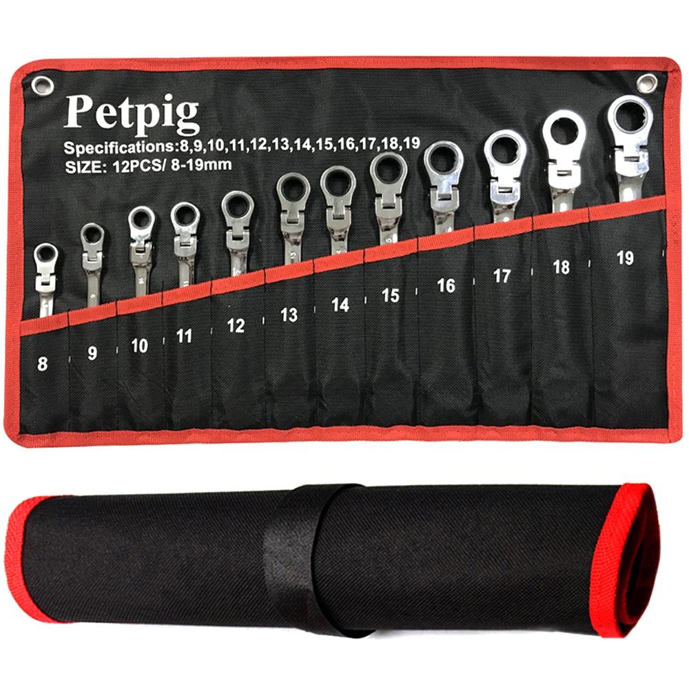 Набор гаечных ключей с храповым механизмом, комбинированный набор динамометрических ключей для ремонта автомобилей