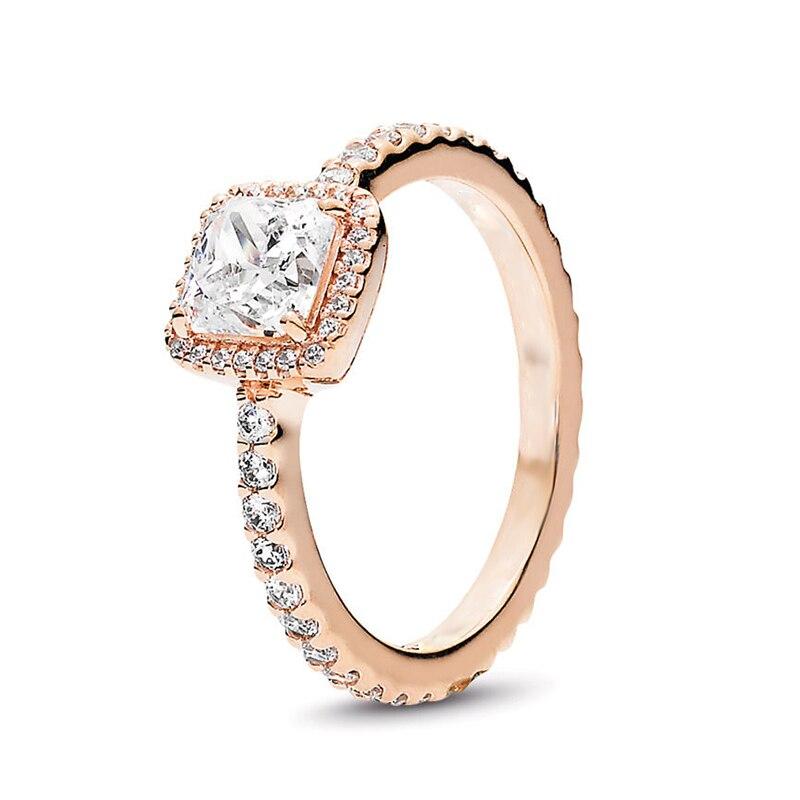 Кольцо на палец в форме сердечко серебряного цвета для женщин, европейская оригинальная Корона, изящные кольца на палец, свадебные украшения, 50 стилей, Прямая поставка - Цвет основного камня: Rings 036