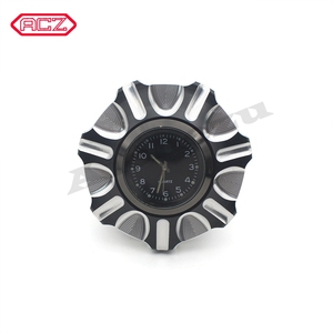 Image 4 - CNC Aluminum Motorcycle Fuel Gas Tank with Clock for Harley Davidson Sportster XL 1200 883 X48 Dyna Decorative Oil Cap