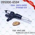 ERIKC 6593 Common Rail Kraftstoff Injektor Assy 095000 6593 Auto Diesel Motor Sapre Teil Injection für KOBELCO 220  8/350 8 HINO J08E-in Einspritzdüse aus Kraftfahrzeuge und Motorräder bei