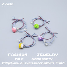 CYHGM girls kawaii elastic hair bands designer satynowa gumka little+people klamra do w os bridal accessories brand G015