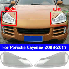 Car Front Headlight Cover For Porsche Cayenne 2008-2017 Headlamp Lampshade Lampcover Head Lamp Light Glass Lens Shell