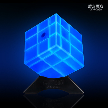 QIYI 3x3 Mirror Cube 3x3x3 Magic Speed Cube Luminous Stickers Professional Puzzle Cubes Toys For Children Mirror Blocks 3x3 Cube
