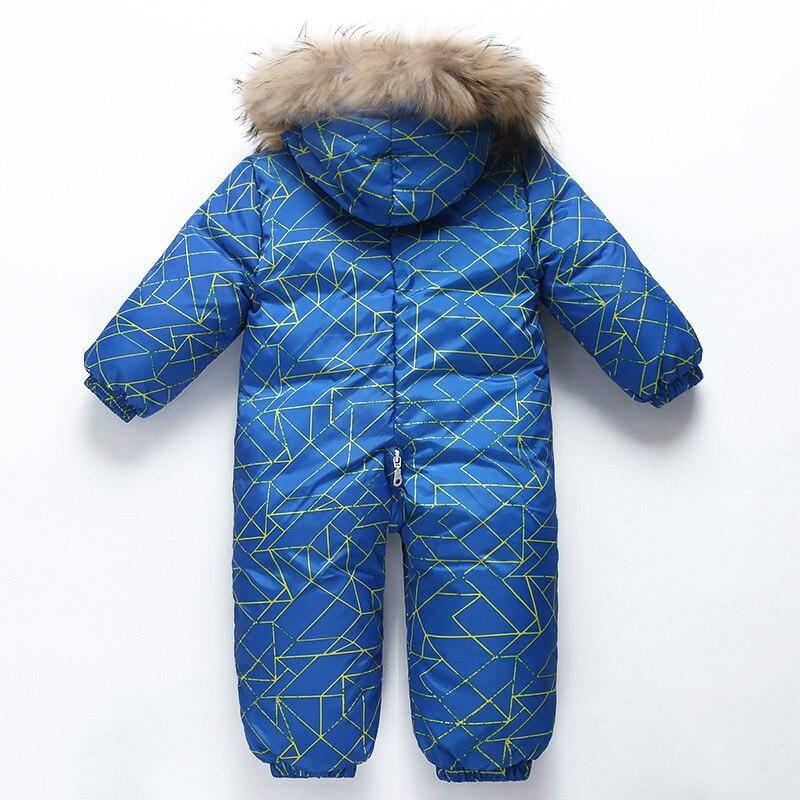Bébé hiver doudoune garçons conjoints doudoune filles coupe-vent ski chaud costume enfants à capuche épais manteau bébé hiver vêtements - 6
