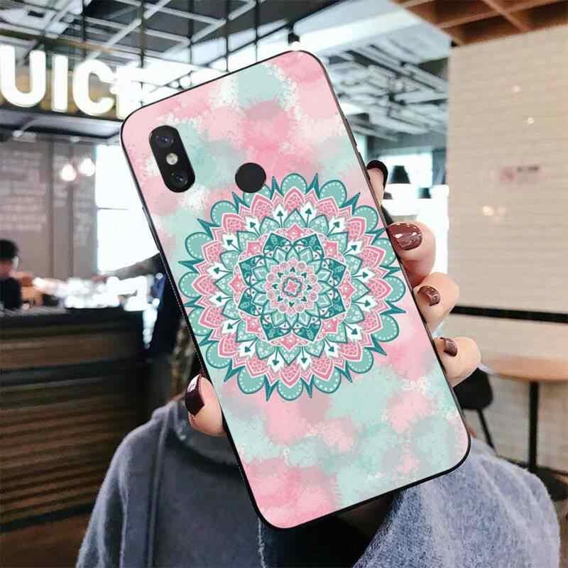 LVTLV 사랑스러운 다채로운 Boho 만다라 꽃 DIY Painted Bling 전화 케이스 Xiaomi mi 5 6 plus 6x8 8se 8lite 9 9se 5x10 pro
