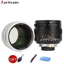 7 artesãos 50mm f1.1 grande abertura paraxial m-montagem lente para câmeras m-m m240 m3 m5 m6 m7 m8 m9 m9p m10 frete grátis