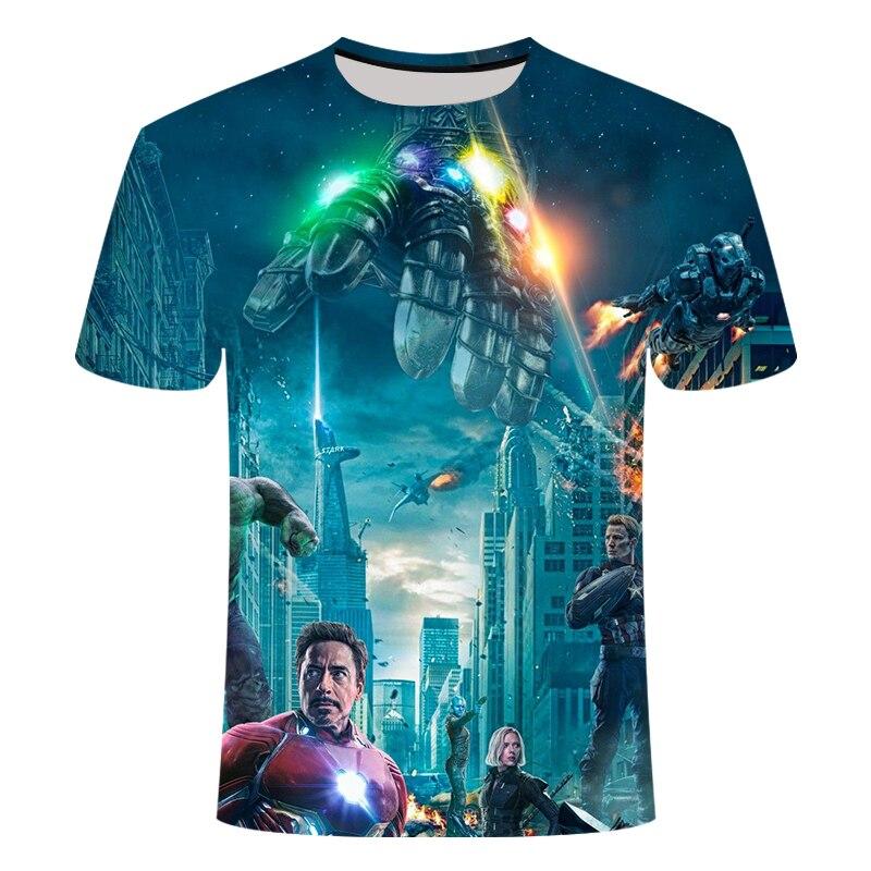 Новинка, футболка Marvel Avengers 4 final, футболка с 3d принтом супергероя Америки, футболка для косплея, Мужская Новая летняя модная футболка - Цвет: TX094