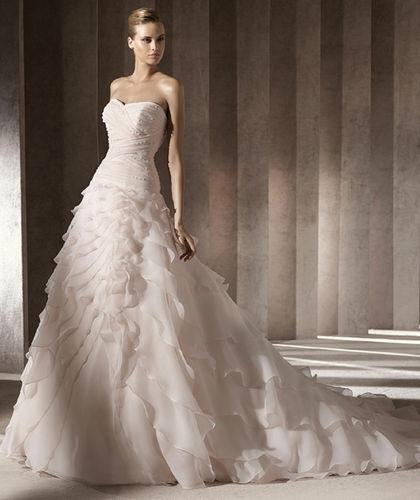 Free Shipping 2020 New Design High Quality A-Line Sweetheart Custom Size/color Bridal Gown Wedding Dresss Chapel Train Custom