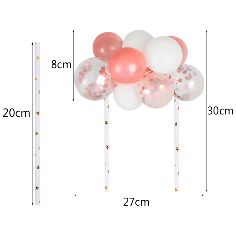 10pcs/set 5 inch Latex Balloons Arch Kit DIY Balloon Garland Cake Topper for Baby Shower Wedding Birthday Party Cake Decoration-1