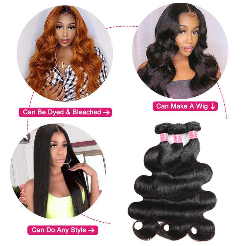 Extensiones de cabello humano Meetu malasio ondulado, cabello no Remy, 100% cabello humano tejido de Color Natural, 3 mechones de pelo en oferta de 8-28 pulgadas