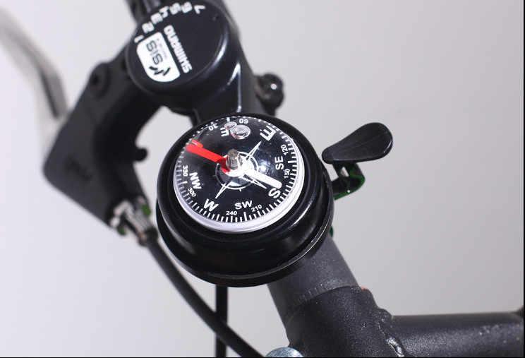 自転車のベルアルミ合金大声サウンドサイクリングベルハンドル安全自転車ベルコンパススポーツ MTB ロードバイク警報自転車ベル # N
