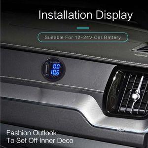 Image 4 - Nueva toma de corriente del adaptador del enchufe del cargador del USB de 5V a con voltímetro de la pantalla de corriente del voltaje para 12 24V coche barco camión motocicleta