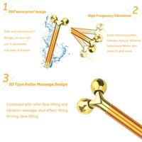 3 in 1 Roller Massager Facial Beauty Bar 24k Golden Vibrating Full Body Massage Device Face Lifting Anti Wrinkle Skin Care Tools 6