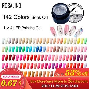 ROSALIND 5ML peinture Gel vernis 142 couleurs Gel vernis à ongles ensemble pour manucure bricolage couche de Base supérieure Hybird conception d'ongle Art apprêt