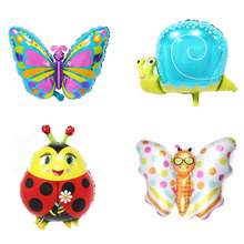 Insect Series Foil Balloons Butterfly Ladybug Balloon Baby Party Decoration Helium Balloon Kids Toys Birthday Party Supplies balloon and butterfly бежевое платье с драпированным подолом сorinne