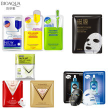 10Pcs BIOAQUA black facemask Hyaluronic acid magnetic mask Anti-Aging Oil-control v shape Hang ear type facial skin care