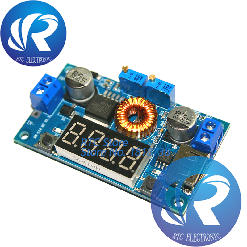 10 teile/los DC-DC 5A Digital LED Stick Lithum Batterie Ladegerät Modul CC/CV USB Step Down Buck Converter Mit voltmeter Amperemeter