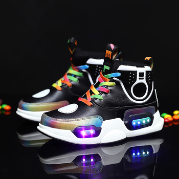 ULKNN 2020 Children USB Charge Colorful Led Back Light Shoes Mesh Girls Flash Luminous Sneakers Boys Glowing Sneakers Kids Shoes 2016 spring new arrival children led light shoes boys and girls breathable shoes kids usb charging flash colorful luminous shoes