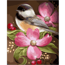 WONZOM Bird Flowers Painting by numbers,Modular canvas pictures for living room,DIY paint numbers kids&adults 40x50cm