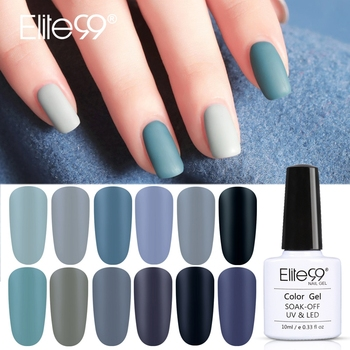Elite99 10ml Matte Top Mantel Farbe UV Gel Nagellack Grau Serie Weg tränken Nägel Gel Lack Semi- permanent UV Lack Gellak