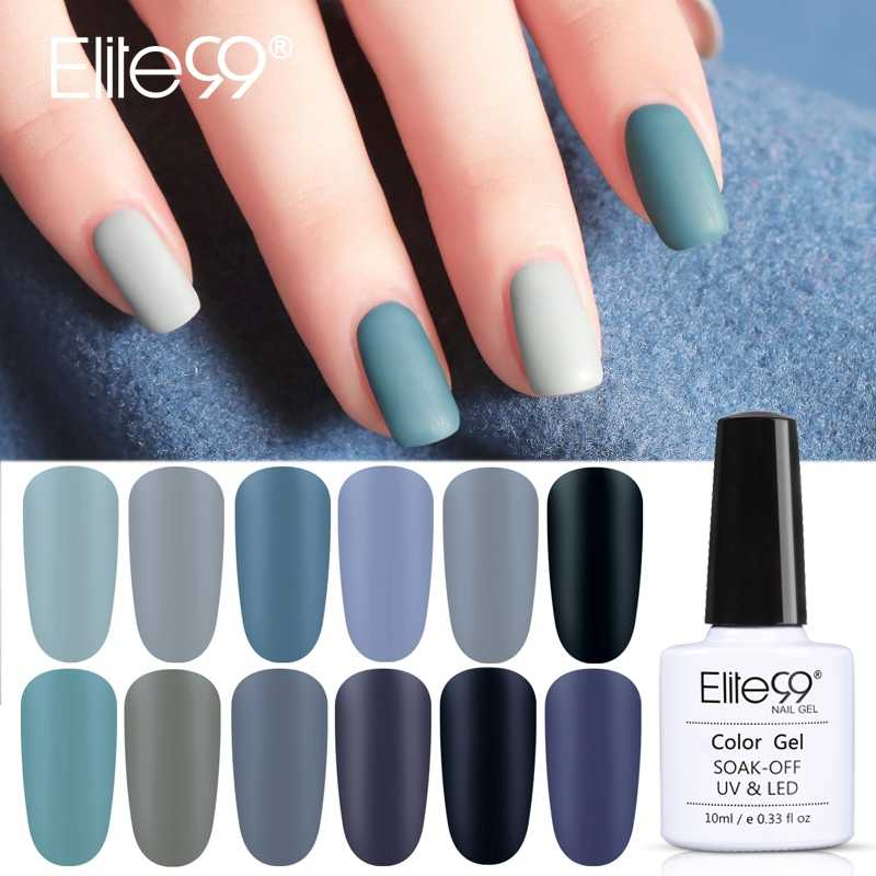 Elite99 10ml Matte Top Coat Color UV Gel Nail Polish Gray Series Soak Off Nails Gel Varnish Semi-Permanent UV Varnish Gellak