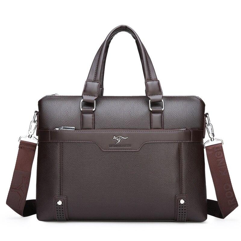 2019 Men's  Briefcase Business Bag Pu Leather Men's Shoulder Bags High Quality Business Men Briefcase Laptop Bag Leather Bag Men