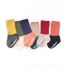 Baby Socks Girls Winter for 0-6-Months Anti-Slip Ankle Floor Thick Boy Kids Cotton Keep-Warm