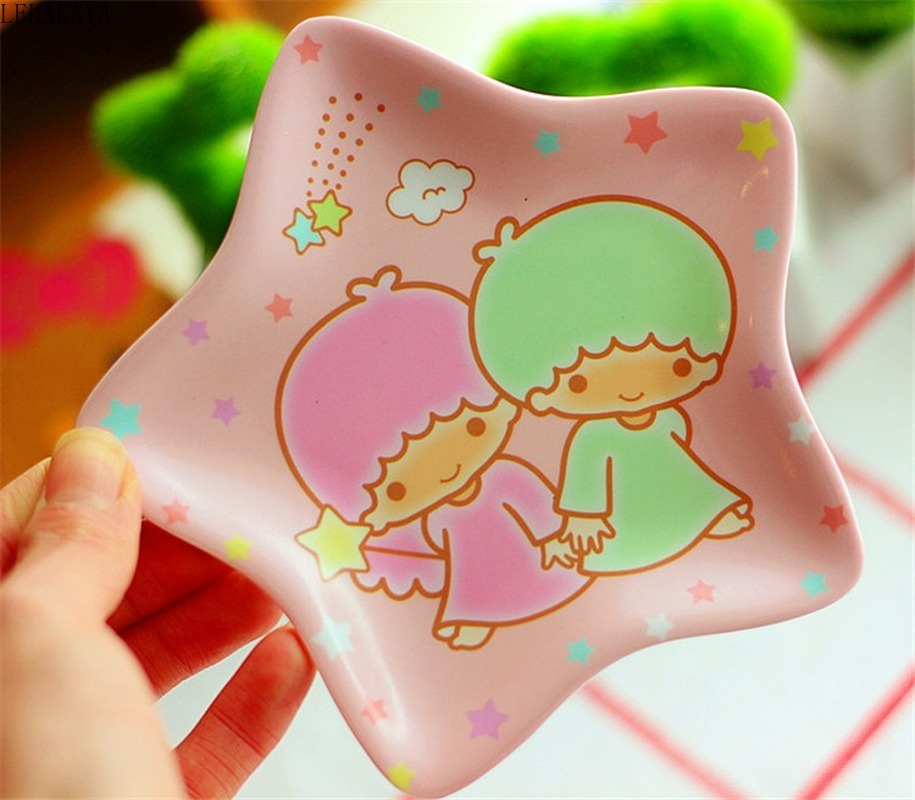 Cute Frog Little Twin Stars My Melody Shaped Mini Dish Plate Cartoon Cat Dog Bowl Dinnerware Snack Holder Compote Tray Dish Toys