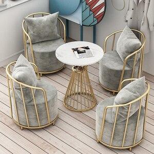 Nordic Single Living Room Sofa Modern Light Luxury Fabric Sofa Chair Restaurant Leisure Furniture Rest Area Negotiation Chair