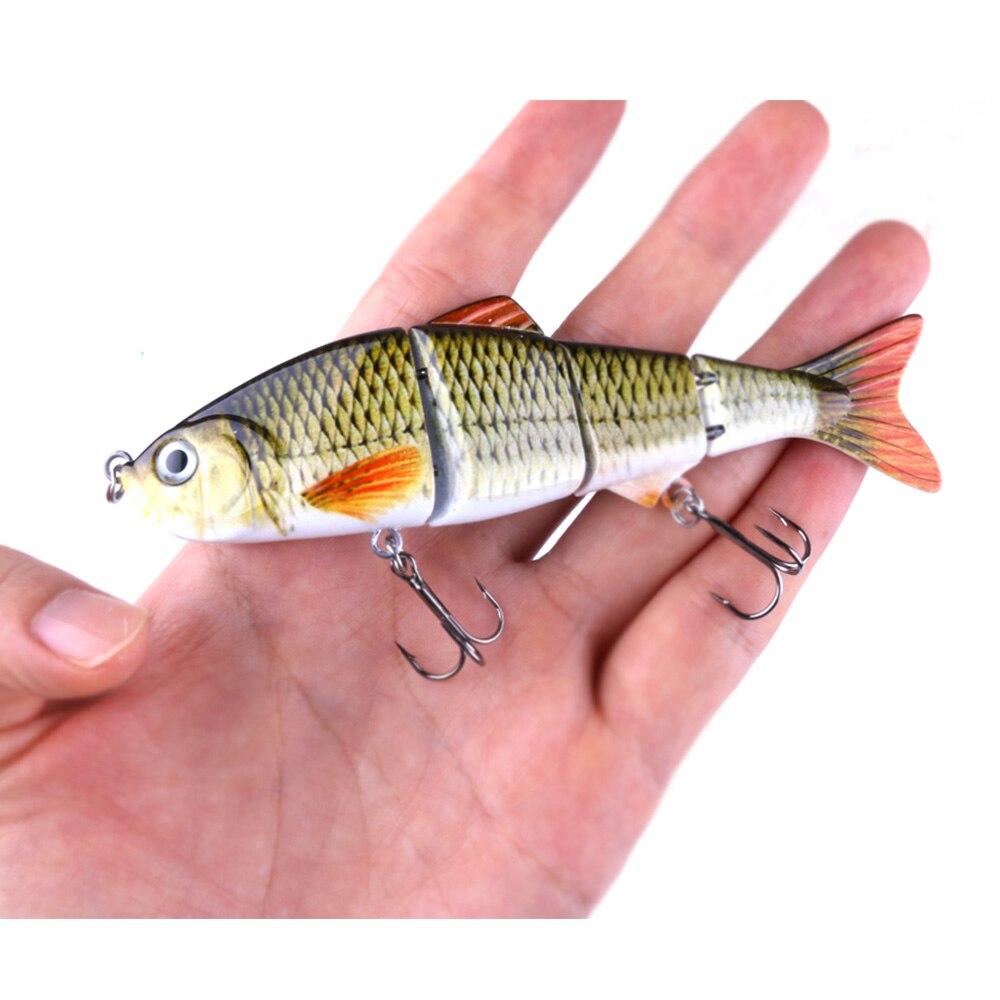 5 stücke Fischköder Swimbait Multi Gelenk Künstliche Köder Crankbait