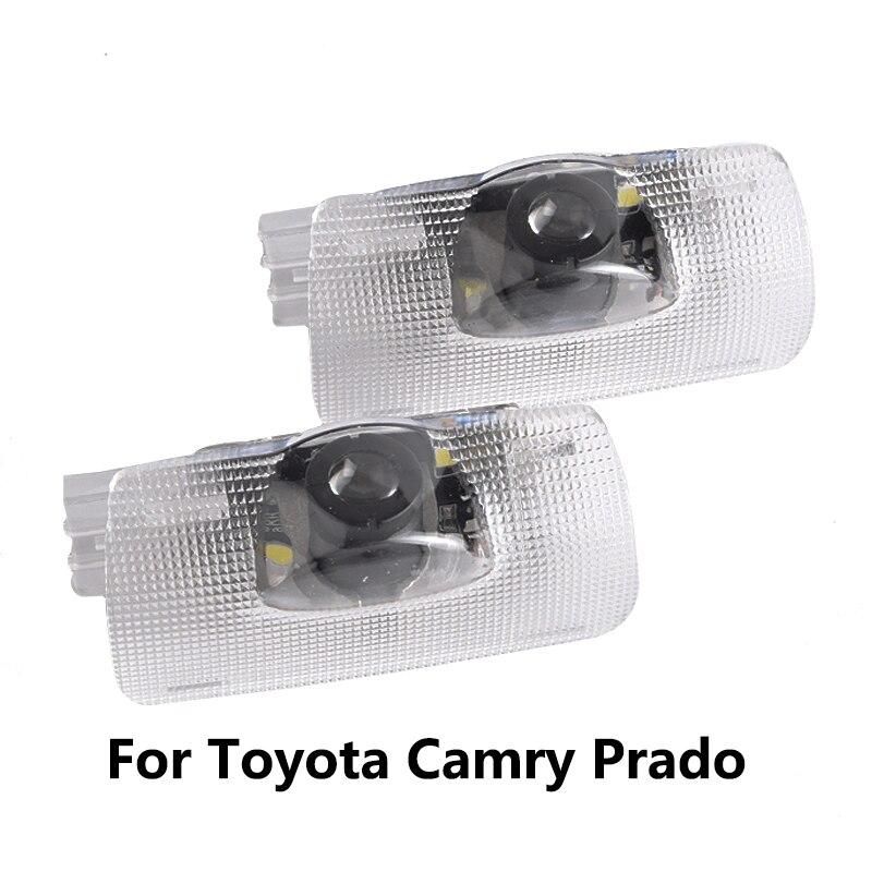2Pcs For Toyota Camry 40 50 70 V40 V50 V70 XV40 XV50 XV70 Prado 150 J150 LC150 LED Camry Logo Car Door Light Ghost Projector