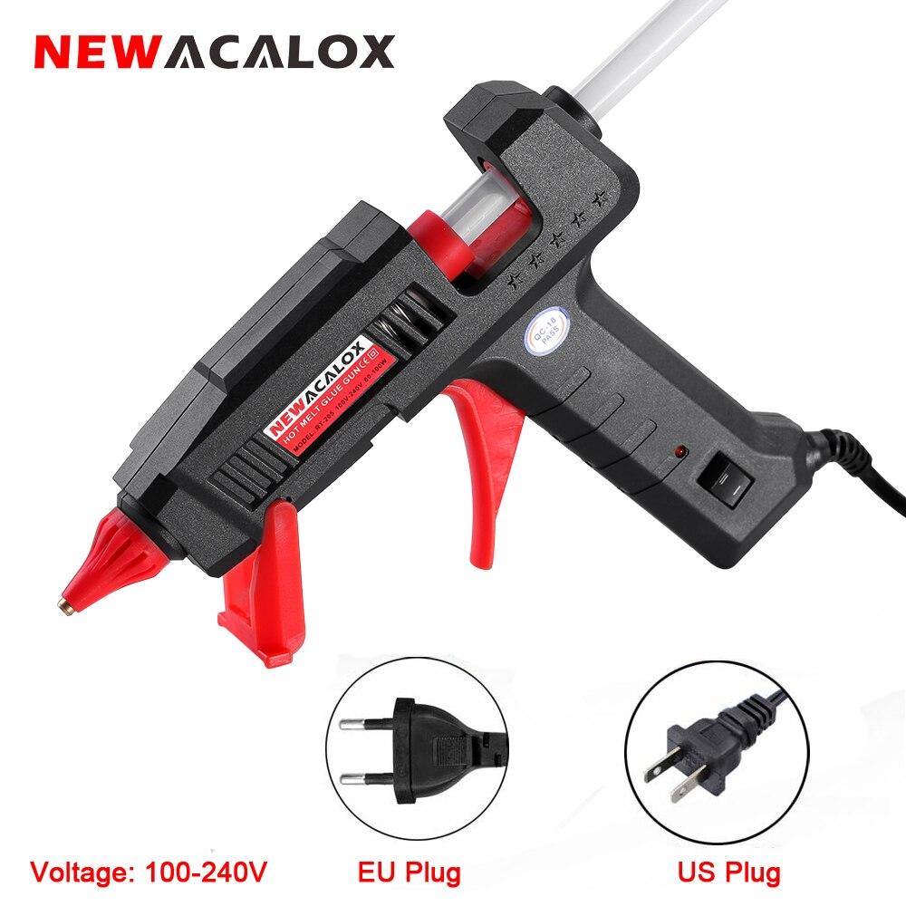 EWACALOX 100-240V 60W 100W Hot Melt Glue Gun With 11mm Hot Melt Glue Sticks Heat Temperature Tool Mini Guns Thermo Gluegun