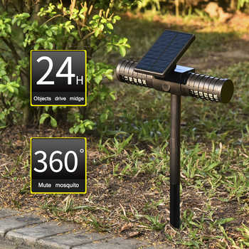 Outdoor Tuin Muggen Mörder Uv Led Lampe IP65 Waterdichte Zonne-licht-energie Led Solar/Usb Opladen Automatische Schakelaar Moskito